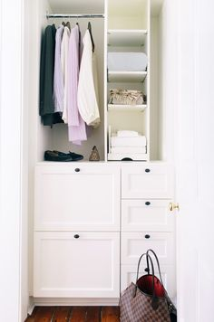 Clear out the closet: http://www.stylemepretty.com/living/2016/03/28/10-quick-ways-to-take-your-guest-room-from-ho-hum-to-hotel-worthy/