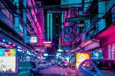 霓虹光影中的曼谷夜生活 BANGKOK GLOW by Xavier Portela » ㄇㄞˋ點子