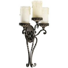 """Quorum Alameda 28"""" High 3-Light Oiled Bronze Wall Sconce - #5Y900   Lamps Plus"""