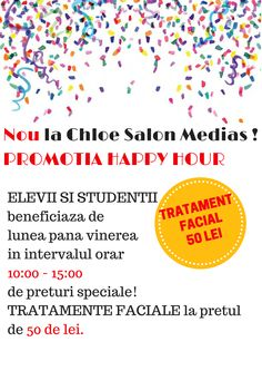 promotie happy hour elevi studenti chloe salon