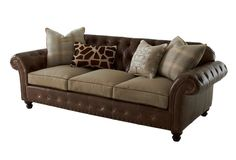 Beverly Chesterfield Sofa, Chocolate