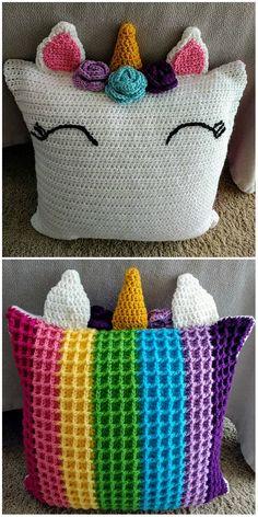 Unicorn Pillow Friend Crochet