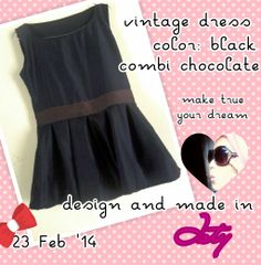 Black mini dress, made by my self :D