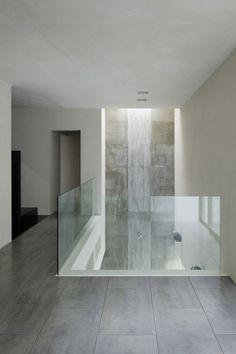 #architecture #design #interiors #corridors #glass partitions #concrete #minimalism