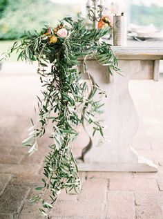 Lush greenery placed on tables: http://www.stylemepretty.com/destination-weddings/2014/11/25/italian-farm-wedding-inspiration/ | Photography: Isabelle Hesselberg / 2 Brides Photography - 2brides.se