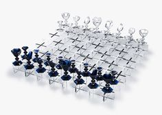 Nendo adds a crystal chess set to its diverse portfolio.