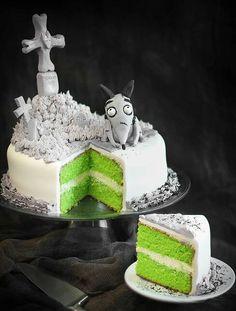Awesome frankenweenie cake