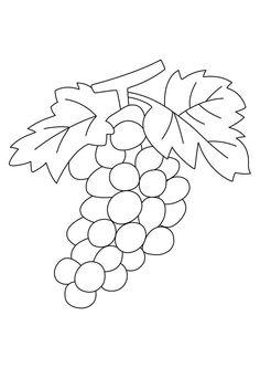 Coloriages Fleurs, fruits et légumes Raisins 02