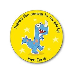 15 Personalised Party Thank You Stickers / Party Seals. Add your own name! Dinosaur Paper Gekko http://www.amazon.co.uk/dp/B00U0IOVFC/ref=cm_sw_r_pi_dp_RBPTvb04WFPF5
