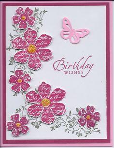 SU Vintage Vogue stamp set,  SU Sincere Salutations stamp set,  MS butterfly punch