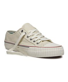 Take a look at this Natural Center Lo Sneaker - Adults by PF Flyers on #