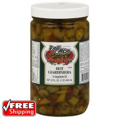 Sauces 14313: Dell Alpe Hot Giardiniera 32 Fl Oz Pack Of 6 Infuses An Italian Flair To Dishes -> BUY IT NOW ONLY: $51.12 on eBay!