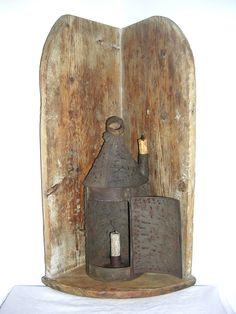 A New England 19th C Country Pine Hanging Corner Shelf        eBay  sold   565.00.     ~♥~