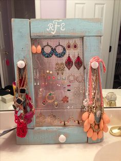 Hand made jewelry holder