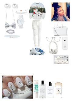 """""""Olaff !!!!!"""" by nerdyk ❤ liked on Polyvore featuring mode, VILA, Domo Beads, Eos, Muse, MICHAEL Michael Kors, NIKE, Beats by Dr. Dre, Bobbi Brown Cosmetics et Agonist"""