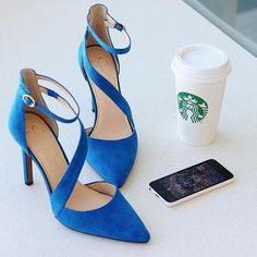 Monday blues can be cured by two things: shoes and coffee!  The 'Castana' #regram @heelsdotcom