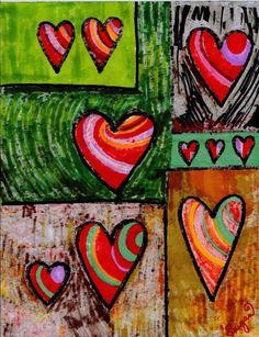 Cupboard Of Hearts Painting  - Cupboard Of Hearts Fine Art Print