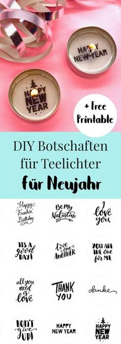 Teelicht mit Botschaft selber machen - kreative kleine Geschenkideen DIY idea for New Year's Eve: make tea lights with messages yourself. It's so easy to make your own tealights with swe Cheap Candles, Diy Candles, Diy Silvester, Diy 2019, Sweet Messages, Homemade Candles, Happy Year, How To Make Tea, Nouvel An