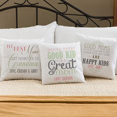 Personalized Throw Pillow for Mom - choose from 6 adorable designs.