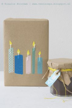 DiY candle, wrapping, gift © Rosalie Noordam