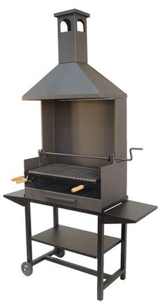 Barbacoa Chimenea todo metal pequeña Bbq Smokers For Sale, Custom Bbq Smokers, Asado Grill, Bbq Grill, Iron Furniture, Steel Furniture, Stove With Griddle, Parrilla Exterior, Flat Top Grill