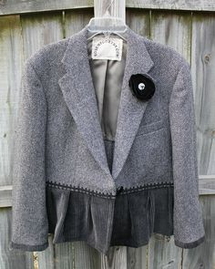 altered refashioned jacket | Flickr - Photo Sharing!