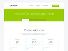 xMatters Pricing Table