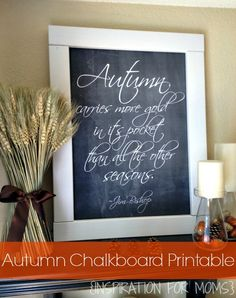 DIY Chalkboard Autumn Sign + Free Download Printable from Inspiration for Moms