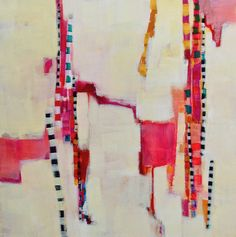 pink pixie sticks  20x20 Beth Munro #colorful #abstract #art