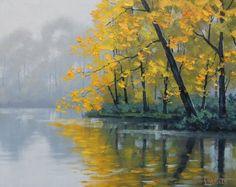 ARBRES peinture arbres paysage Original huile paysage