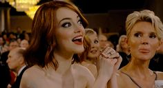 Emma Stone embraced her big eyes.   The 22 Most Important Things That Happened At The Golden Globes