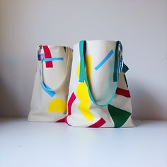 More hand screen printed tote bags - Gemma Patford