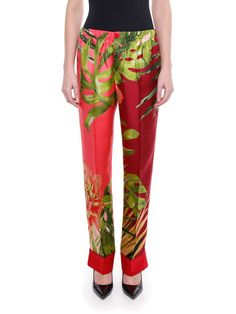 s For Restless Sleepers Printed Silk Trousers In Waterlily Light, Piek Lase For Restless Sleepers, Printed Silk, Water Lilies, Color Names, Pink Silk, Drawstring Waist, Trousers, Prints, Model