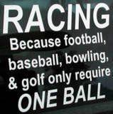 racing....