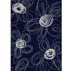Admire Home Living Brilliance Flower Area Rug (5'5 x 7'7)