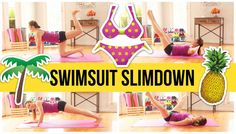 8 minute bikini sculpting workout will flatten your abs, perk up your chest, tone your shoulders and upper body, slim your thighs, and lift your booty! It's 4 moves at 2 min each. Get ready for a real total body burn! Bikini Fitness, Bikini Workout, Body Fitness, Bikini Body Fast, Pop Pilates, Blogilates, Workout Calendar, Fitness Magazine, Total Body