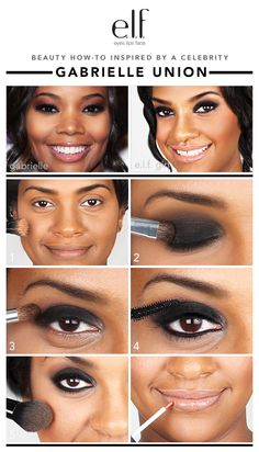 This leading lady never fails to impress on the red carpet and we'll be seeing… Makeup 101, Beauty Makeup, Hair Beauty, Smokey Eye Makeup, Skin Makeup, Elf Eyeshadow, Beauty Tutorials, Beauty Hacks, Makeup Tutorials