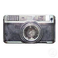 Alte schwarze Kamera Barely There iPod Hüllen