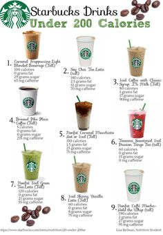 Keep your liquid calories under control with these drinks from Starbucks!