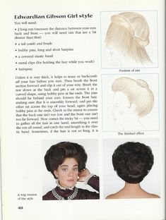 Gibson Girl hairstyle by Lumikettu, via Flickr