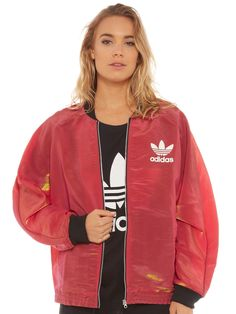 Rita Ora Space Shifter All-in-One Jacket in Red and Black