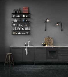 Fresh + Functional Kitchen Designs Often I look to my favourite architects and interior designers for new kitchen ideas to share, but lately I've come across some fresh ideas from kitchen design companies. With a focus on design and fu Kitchen Tiles Design, Kitchen Cabinet Design, Kitchen Decor, Kitchen Ideas, Interior Desing, Interior Design Kitchen, Black Kitchens, Home Kitchens, Kitchen Black