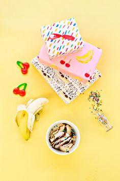 Free Printable Banana Split Wrapping Papers | Studio DIY®