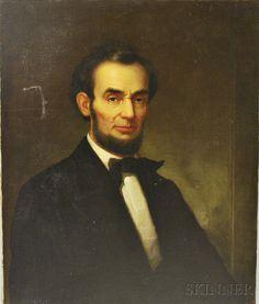 American School, 19th Century       Portrait of Lincoln
