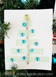 DIY Washi Tape Card - adorable and easy idea for the holidays.