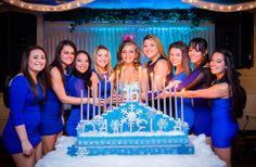 Winter wonderland theme candlelighting - sweet sixteen