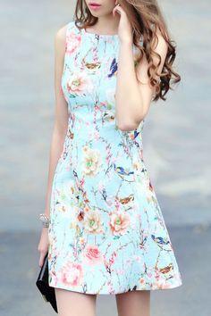 Shop Blue Sleeveless Floral Jacquard A Line Dress online. SheIn offers Blue Sleeveless Floral Jacquard A Line Dress & more to fit your fashionable needs.