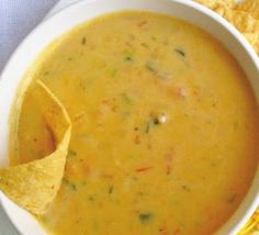 How to make Queso WITHOUT VELVEETA!!! Queso: Ingredients 1 tbsp butter about 1/4 cup diced onion 1 roma tomato, diced 1 small can green chiles 2 tbsp butter 2 tbsp flour 1 cup milk 1 cup shredded cheese