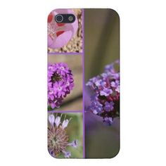 Purple Violet Pink Flowers Collage Case For iPhone 5
