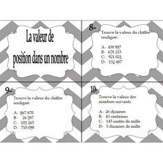 Cartes à tâche en arithmétique